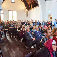 Audience of 140+ people attending the Centre for Accessibility launch