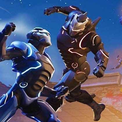 Scene from the popular video game Fortnite
