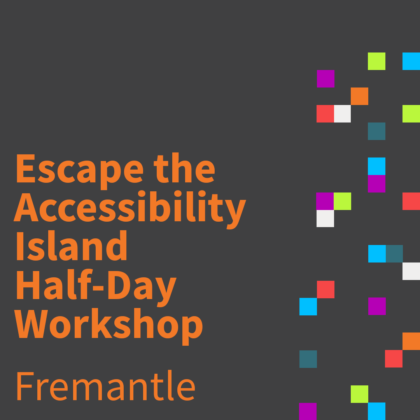 Centre for Accessibility Workshop Event artwork