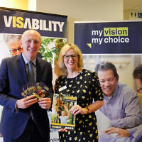 Hon. Stephen Dawson MLC, Minister for Disability at the official launch of VisAbility's My Vision, My Choice platform.